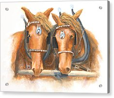 Mini And Jake Acrylic Print by Jerry McElroy