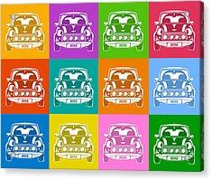 Mini Cooper Squares Acrylic Print by Michael Tompsett