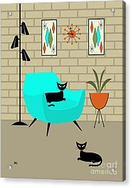 Mini Gravel Art With Brick Wall Acrylic Print by Donna Mibus