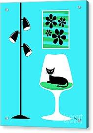 Mini Groovy Flowers 2 Acrylic Print by Donna Mibus