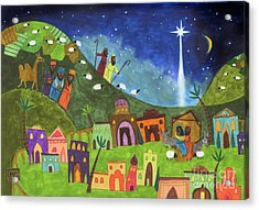 Mini Nativity Acrylic Print by Kate Cosgrove