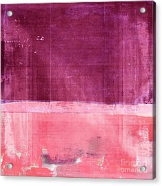 Minima - S02b Pink Acrylic Print by Variance Collections