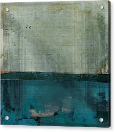 Minima - S02b Turquoise Acrylic Print by Variance Collections