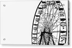 Minimalist Ferris Wheel Acrylic Print by Jon Woodhams