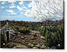 Mining Nevada Acrylic Print by Julie Townsend