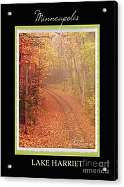 Minneapolis Seasons Autumn Acrylic Print by Heidi Hermes
