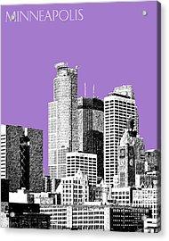 Minneapolis Skyline - Violet  Acrylic Print by DB Artist