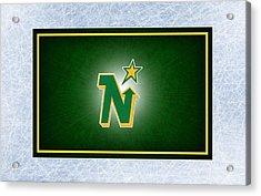 Minnesota North Stars Acrylic Print by Joe Hamilton