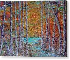 Minnesota Sunset Acrylic Print by Jacqueline Athmann