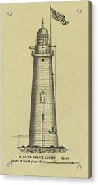 Minot's Ledge Lighthouse Acrylic Print by Jerry McElroy - Public Domain Image