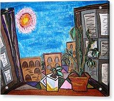 Mint Plant Tea Mediterranean  Acrylic Print by Lois Picasso
