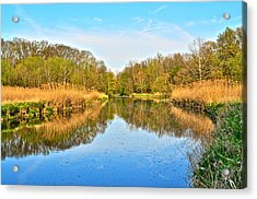 Mirror Canal Acrylic Print by Frozen in Time Fine Art Photography