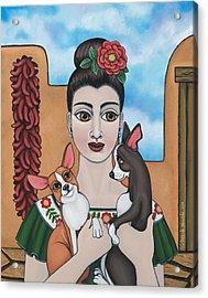 Mis Carinos Acrylic Print by Victoria De Almeida