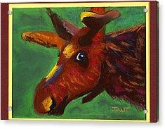 Mischievous Moose Acrylic Print by Diana Tripp