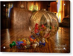 Mishap Of The Tic Tac Acrylic Print by The Stone Age