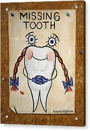 Missing Tooth Acrylic Print by Anthony Falbo