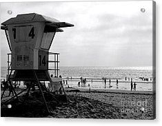 Mission Beach San Diego Acrylic Print by David Gardener