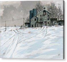 Mission Valley Farmstead Acrylic Print by John Wyckoff
