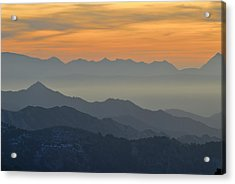 Mists In The Mountains At Sunset Acrylic Print by Guido Montanes Castillo