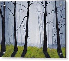Misty Forest Acrylic Print by Anastasiya Malakhova