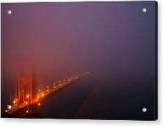 Misty Golden Gate  Acrylic Print by Francesco Emanuele Carucci