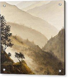 Misty Hills Acrylic Print by Darice Machel McGuire