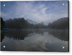 Misty Morning Acrylic Print by Aaron S Bedell