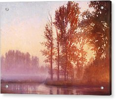 Misty Morning Memory Acrylic Print by Michael Orwick