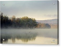 Misty Morning Sunrise Acrylic Print by Christina Rollo