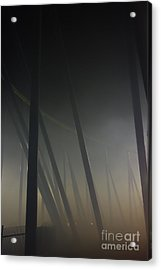 Misty Towers Acrylic Print by Jacqueline Athmann