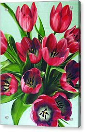 Mistys Tulips Acrylic Print by Sherry Robinson