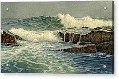 Mixed Media Seascape Acrylic Print by Paul Krapf