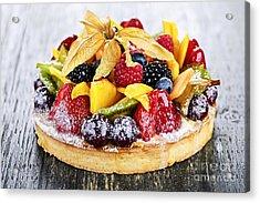 Mixed Tropical Fruit Tart Acrylic Print by Elena Elisseeva