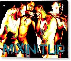 Mixin It Up Acrylic Print by Robert D McBain