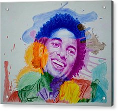 Mj Color Splatter Acrylic Print by Sruthi Murali