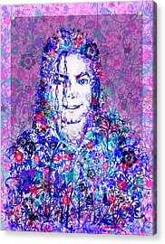 Mj Floral Version Acrylic Print by Bekim Art