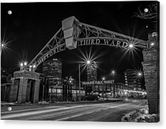 Mke Third Ward Acrylic Print by CJ Schmit