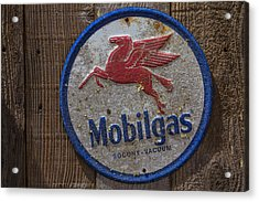Mobil Gas Sign Acrylic Print by Garry Gay