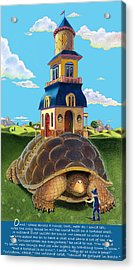 Mobile Home With Whimsical Poem Acrylic Print by J L Meadows