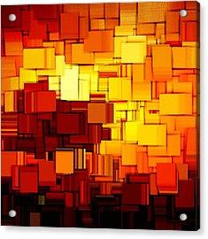 Modern Abstract Xi Acrylic Print by Lourry Legarde