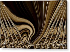 Modern Basket Weaving Acrylic Print by Marsha Heiken