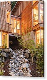 Modern House And Rocky Creek Acrylic Print by Will Austin