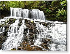 Mohawk Falls Acrylic Print by Frozen in Time Fine Art Photography