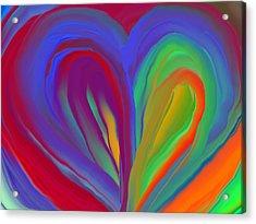Molten Heart27 Acrylic Print by Linnea Tober