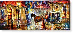 Momentary Stop Acrylic Print by Leonid Afremov
