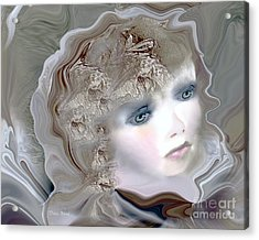 Mona Acrylic Print by Doris Wood