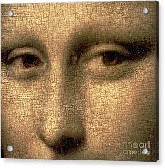 Mona Lisa    Detail Acrylic Print by Leonardo Da Vinci