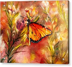 Monarch Beauty Acrylic Print by Karen Kennedy Chatham