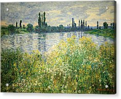 Monet's Banks Of The Seine At Vetheuil Acrylic Print by Cora Wandel