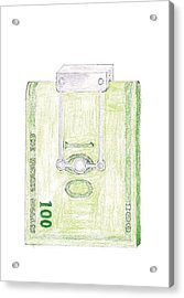 Money Clip Acrylic Print by Giuliano Capogrossi Colognesi